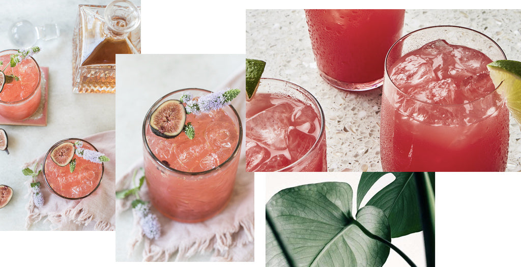 Coral cocktails and mocktails