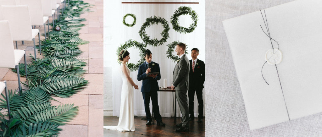 Bows to line the aisle and gorgeous wreath backdrops