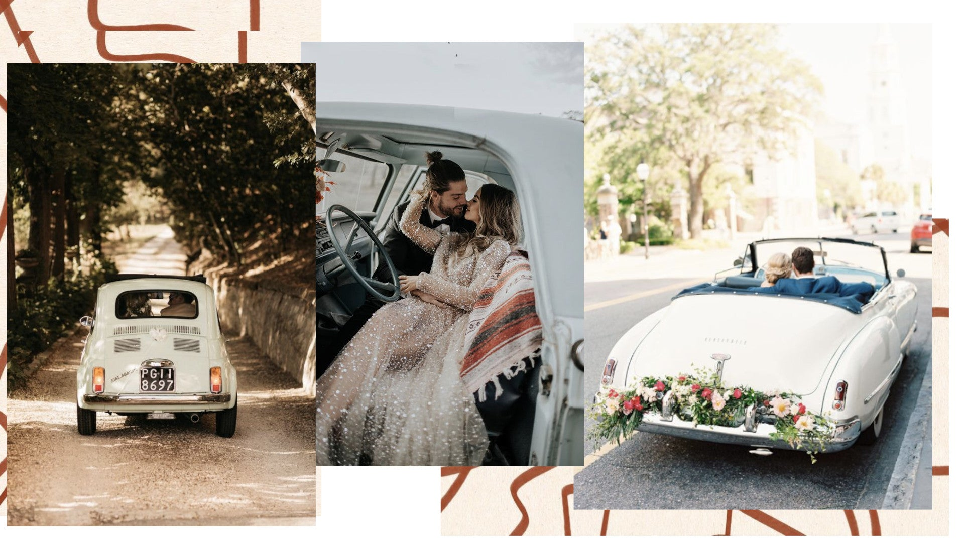 Just Married Car Rental for your wedding!