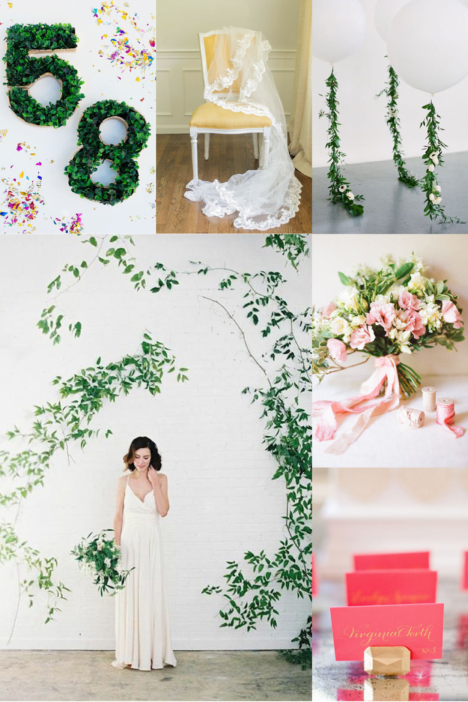 Diy wedding ideas davie chiyo diy wild vine arch diy boxwood table numbers diy lace veil diy floral garland balloon diy hand dyed ribbons diy gem escort cards holders solutioingenieria Images