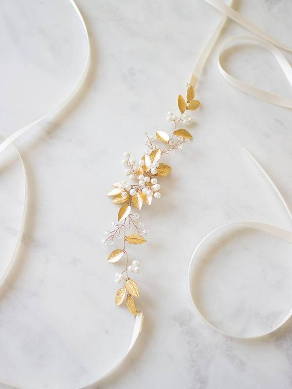 Vancouver Davie & Chiyo Bridal Accessories Sash Pearl