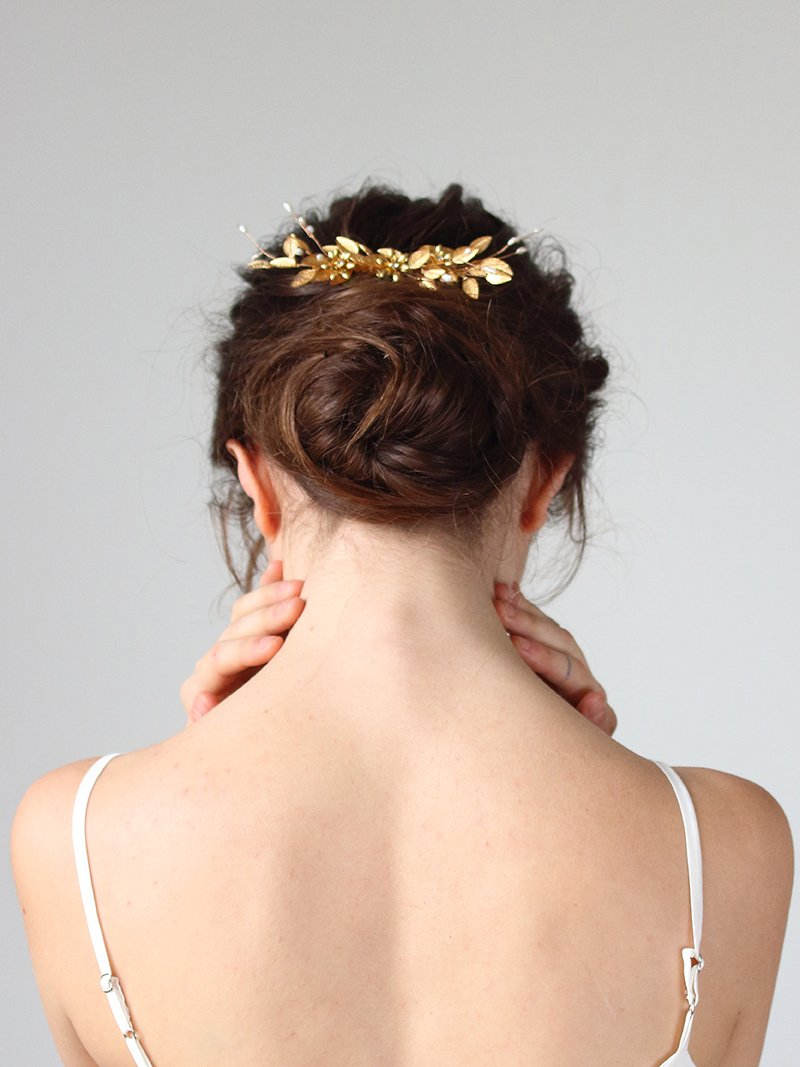 INDRA COMB HEADPIECE, Bridal Accessories - Davie & Chiyo, Vancouver