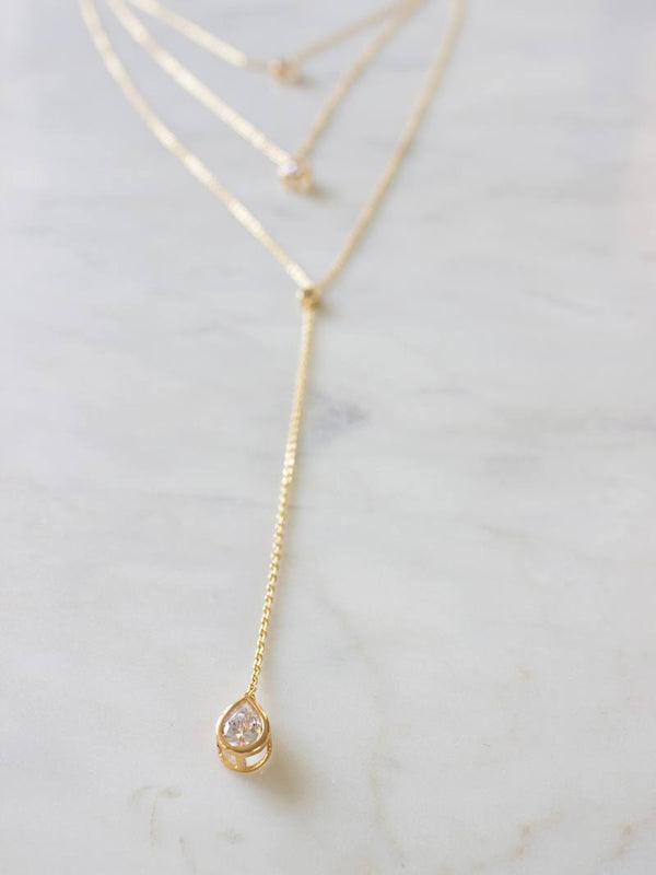 SOLEIL NECKLACE, Bridal Accessories - Davie & Chiyo, Vancouver