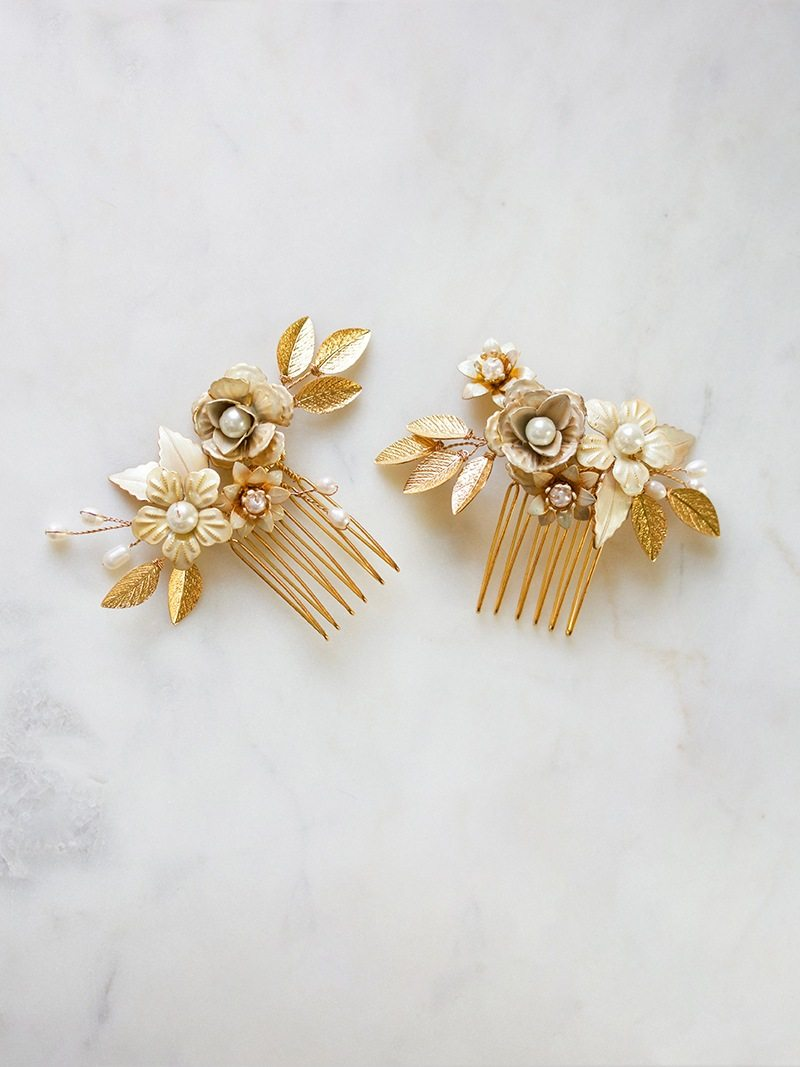 MARILYN COMB SET, Bridal Accessories - Davie & Chiyo, Vancouver