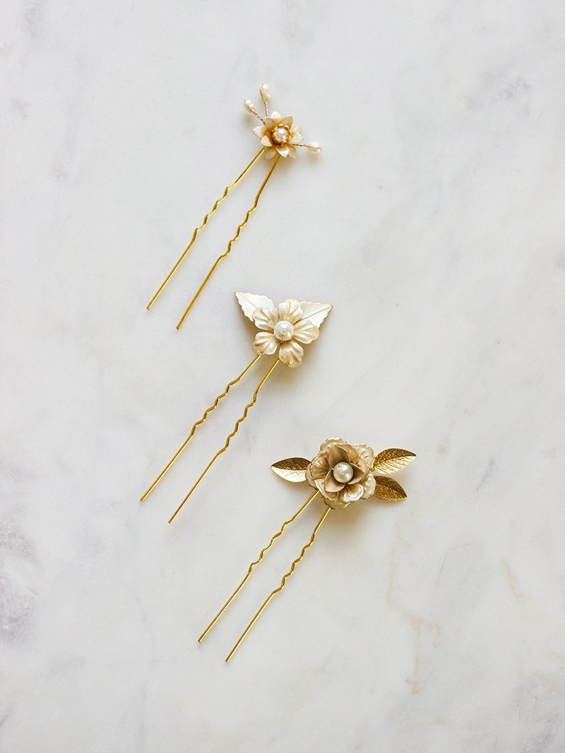 MARILYN HAIRPIN SET, Bridal Accessories - Davie & Chiyo, Vancouver