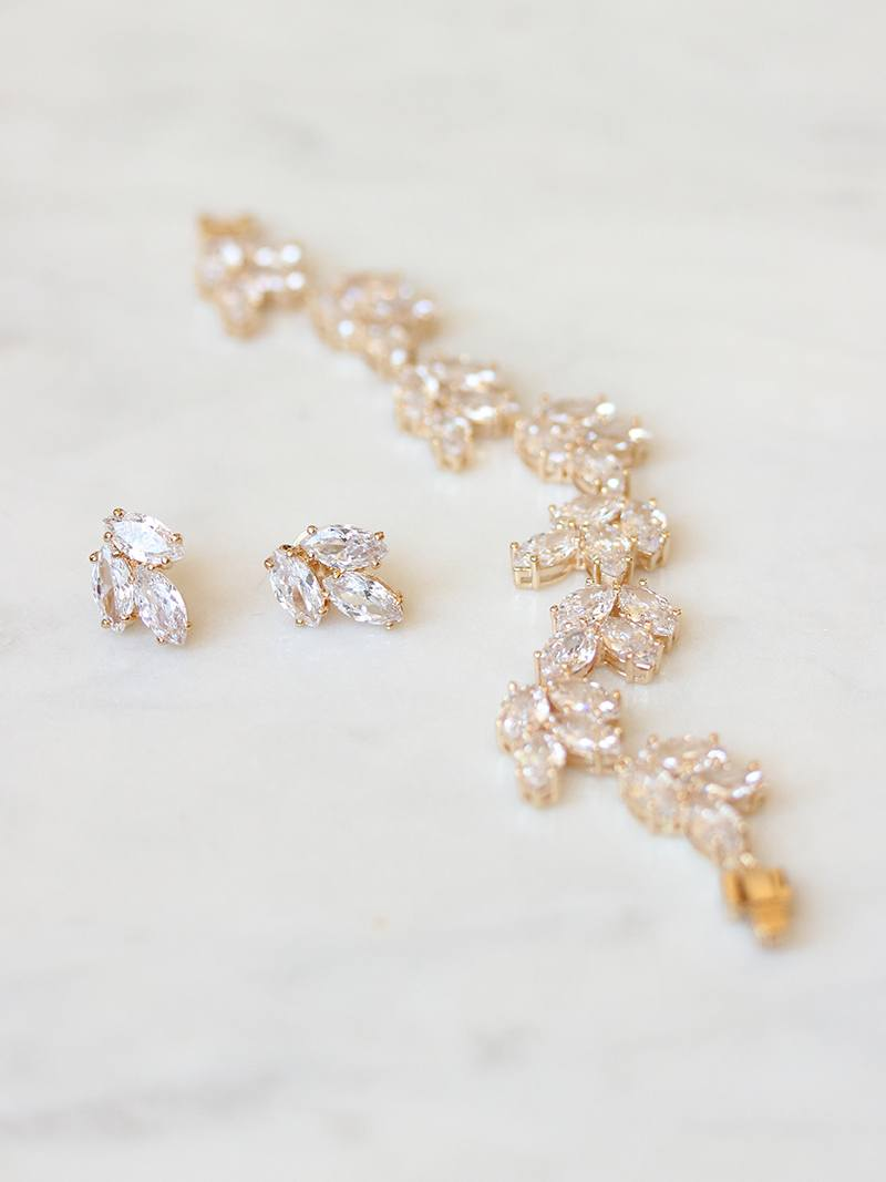 ALTHEA EARRINGS, Bridal Accessories - Davie & Chiyo, Vancouver