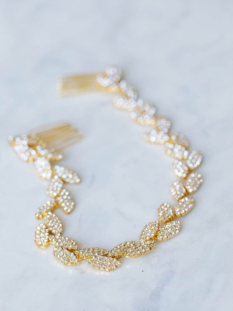 GILDED IVY HAIR VINE, Bridal Accessories - Davie & Chiyo, Vancouver