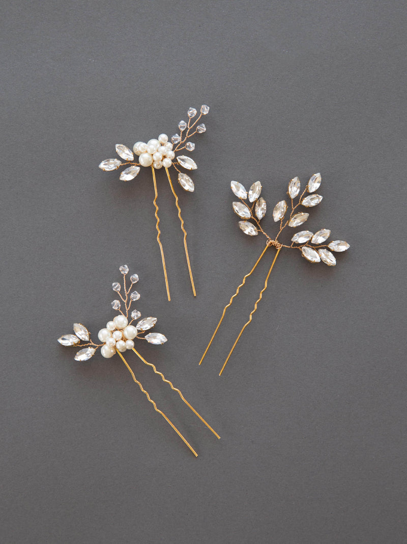SENNA & LIV HAIRPIN SET, Bridal Accessories - Davie & Chiyo, Vancouver