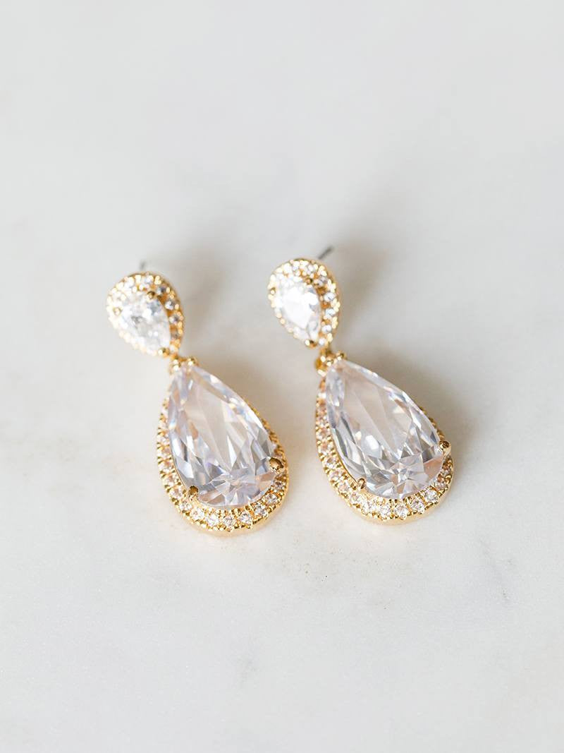 DIANA EARRINGS, Bridal Accessories - Davie & Chiyo, Vancouver