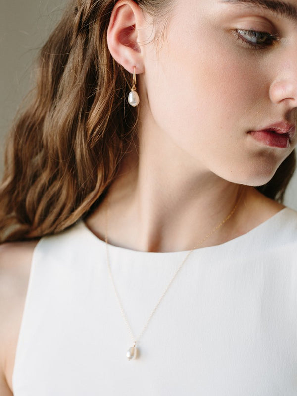 MOONDROP EARRING SET, Bridal Accessories - Davie & Chiyo, Vancouver