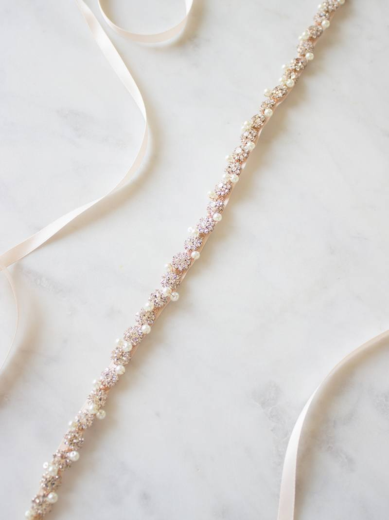 CERELIA SASH, Bridal Accessories - Davie & Chiyo, Vancouver
