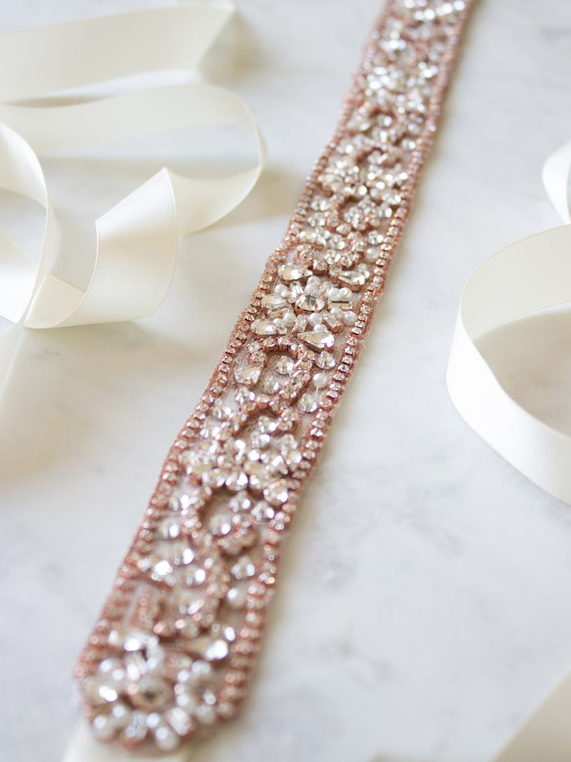 ZAHARA SASH, Bridal Accessories - Davie & Chiyo, Vancouver