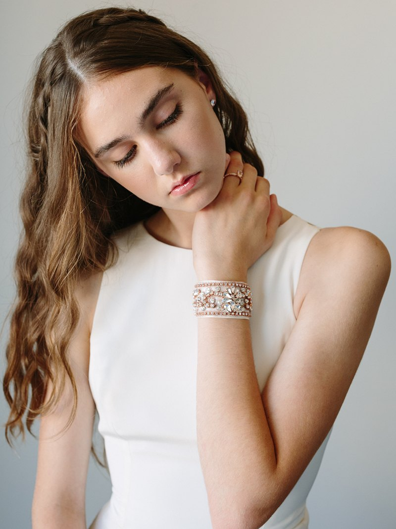 ZAHARA CUFF, Bridal Accessories - Davie & Chiyo, Vancouver