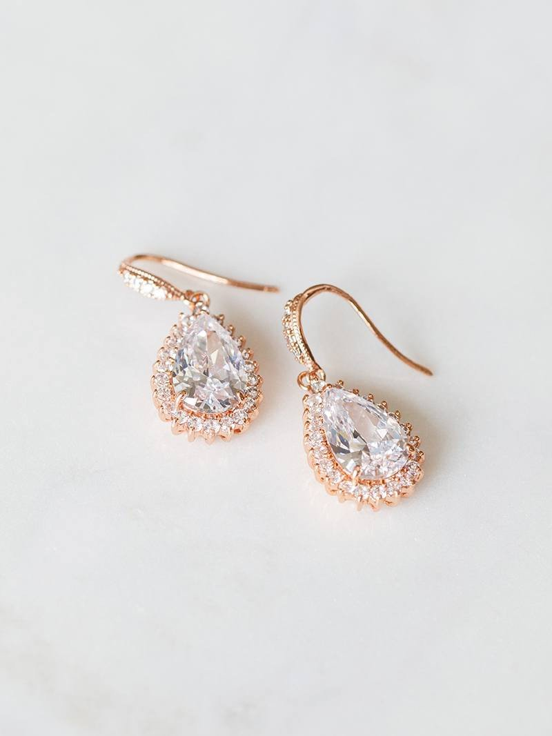 CATHERINE EARRING & NECKLACE SET, Bridal Accessories - Davie & Chiyo, Vancouver