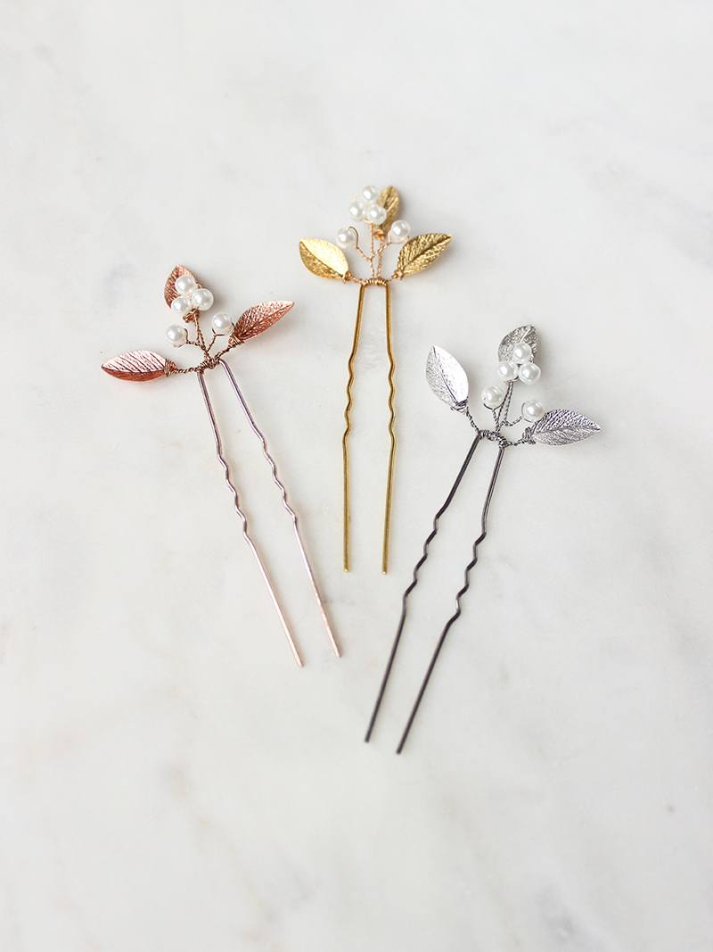ADELE HAIRPIN, Bridal Accessories - Davie & Chiyo, Vancouver