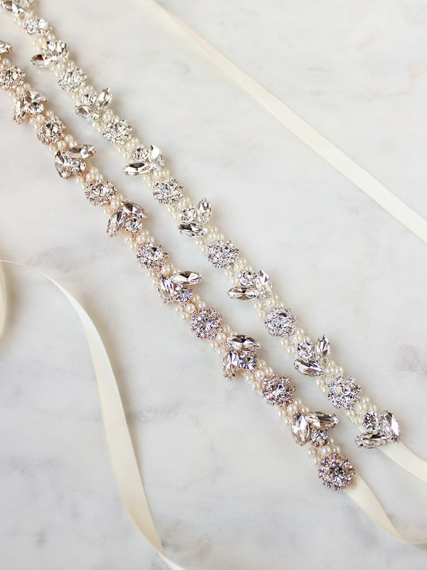 AMARA SASH, Bridal Accessories - Davie & Chiyo, Vancouver