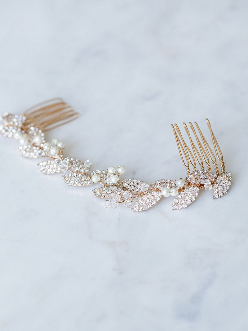 PETITE GILDED AVA HAIR VINE, Bridal Accessories - Davie & Chiyo, Vancouver