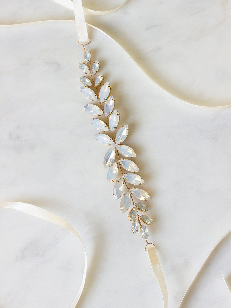 BRIA SASH, Bridal Accessories - Davie & Chiyo, Vancouver