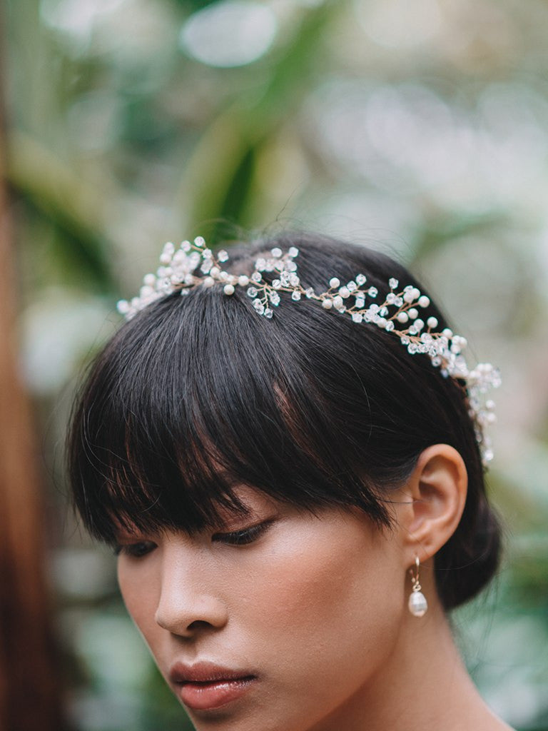 MARIELLE HAIR WREATH, Bridal Accessories - Davie & Chiyo, Vancouver