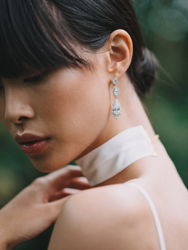 THALASSA EARRINGS, Bridal Accessories - Davie & Chiyo, Vancouver