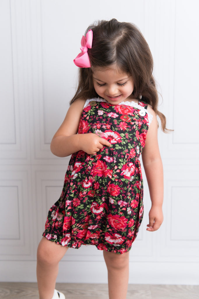 Rose Bloom French Playsuit