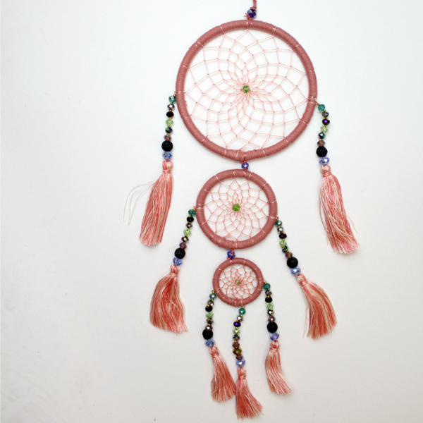 Dusty Rose Whimsical Dream Catcher