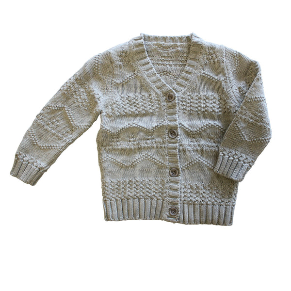 Frost Grey Knit Cardigan