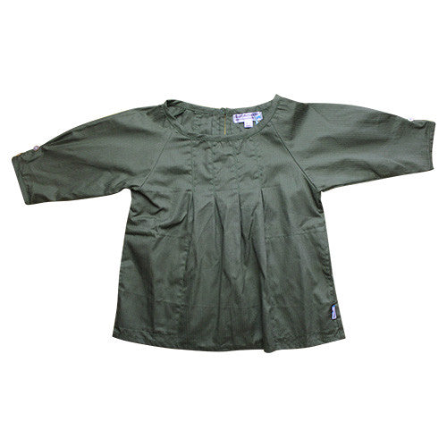 Olive Pleat Roundneck