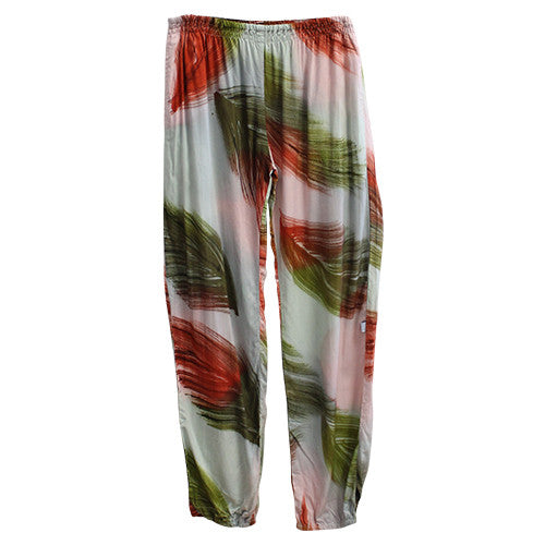 Crimson Feather Mummy Slouch Pants