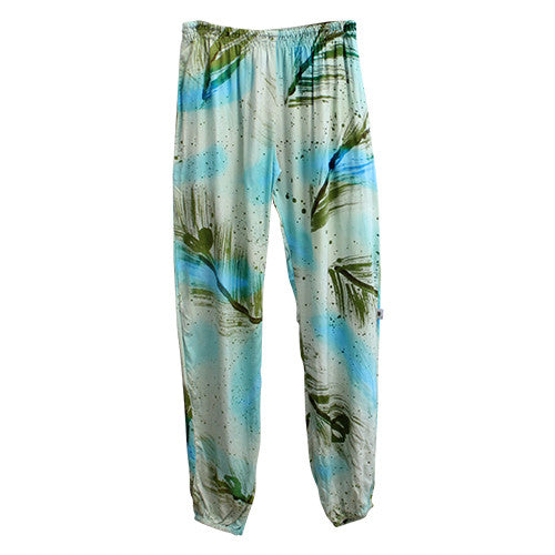 Emerald Feather Mummy Slouch Pants