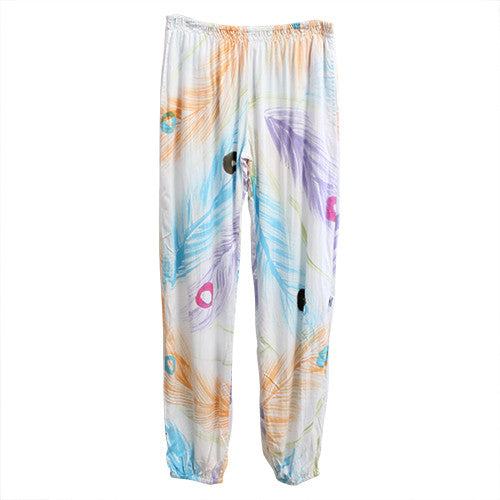 Peacock Mummy Slouch Pants