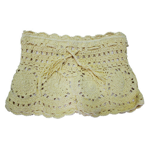 Lemon Crochet Shorts