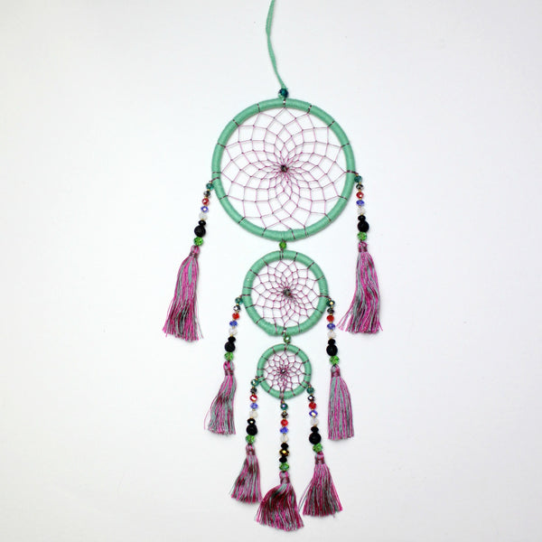 Mint Slice Whimsical Dream Catcher