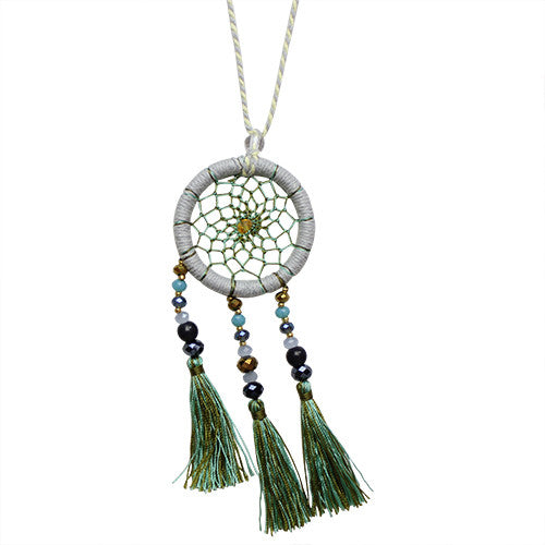 Moss Dream Catcher Necklace