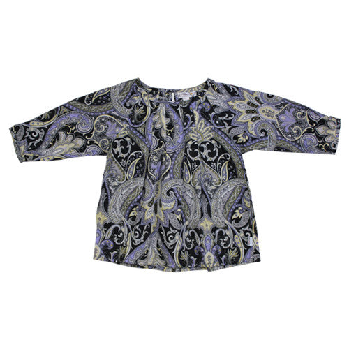 Paisley Thistle Pleat Roundneck