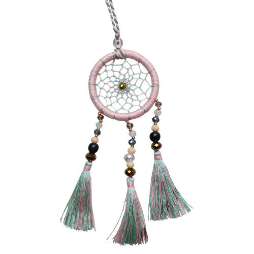 Pink Lemonade Dream Catcher Necklace