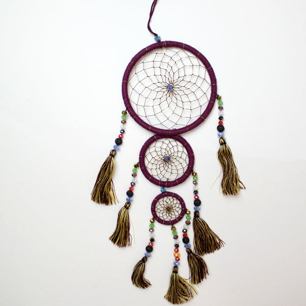 Plum Whimsical Dream Catcher