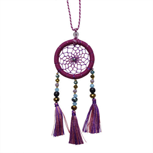 Plum Dream Catcher Necklace