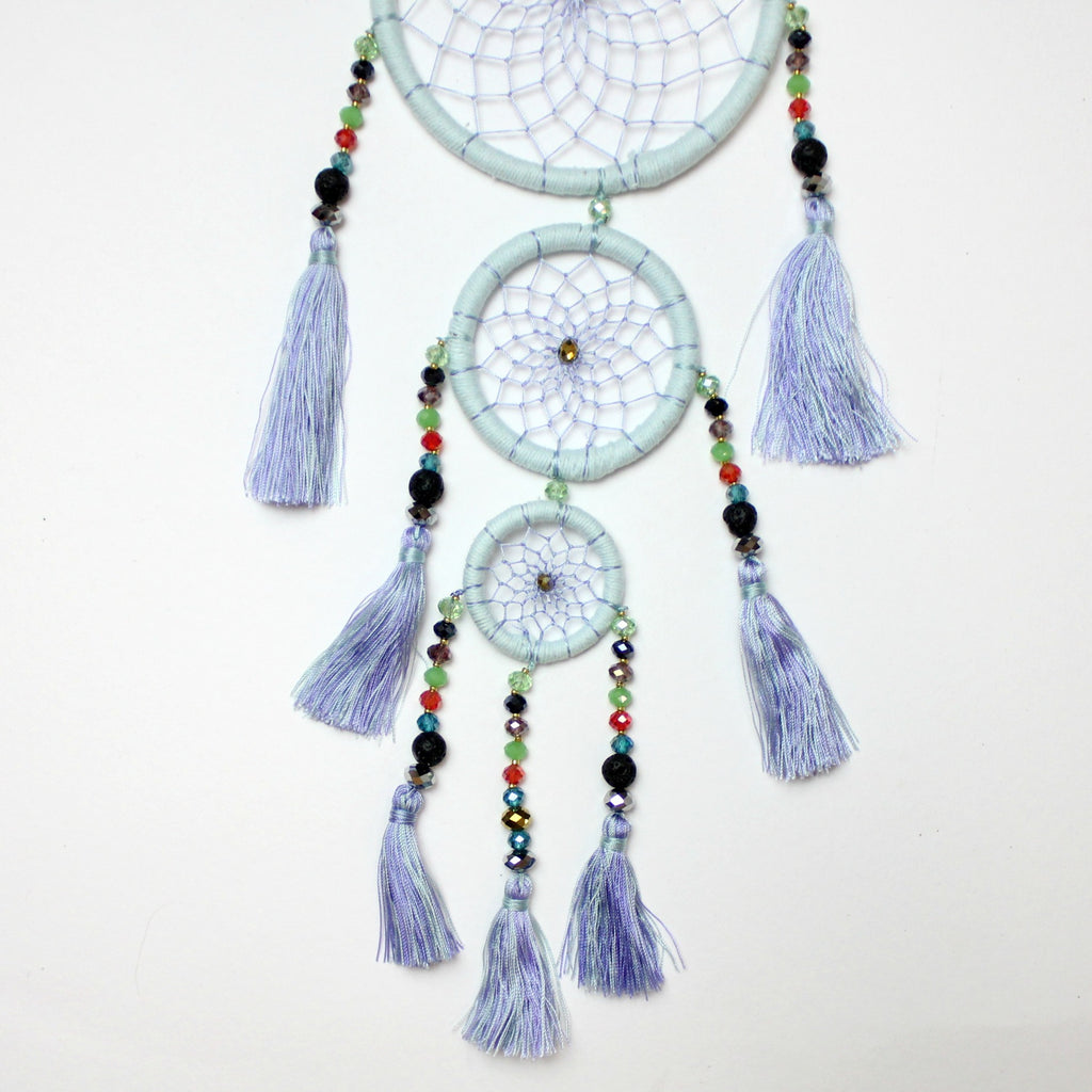 Sky Blue Whimsical Dream Catcher