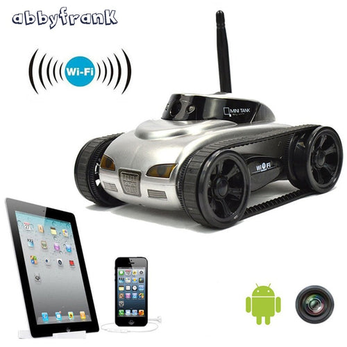Abbyfrank RC Tank Car 777-270 Shoot Robot With 0.3MP Camera Wifi IOS Phone Remote Control