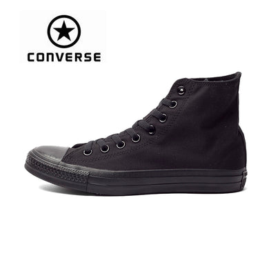 Original CONVERSE Mens and Womens Classic Chuck Taylor High-top Lace-up Canvas Comfortable Leisure Lightweight Flat Shoes 1Z588