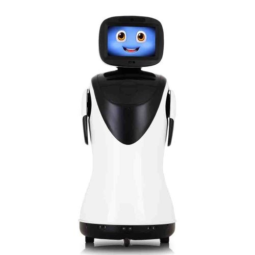 PadBot P3, Robot receptionist, humanoid, artificial intelligence, voice recognition