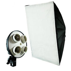60X90 Softbox with E27 4 socket lamp holder