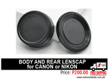 Body and Rear Lens Cap