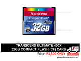Transcend 32gb Compact Flash CF Card 400x