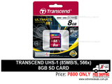 Transcend 8gb SD Card UHS-1 85mbps