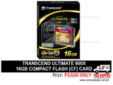 Transcend 16gb Compact Flash CF Card 600x