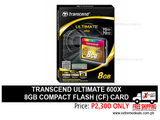 Transcend 8gb Compact Flash CF Card 600x