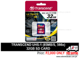 Transcend 32gb SD Card UHS-1 85mbps