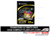 Transcend 32gb Compact Flash CF Card 600x